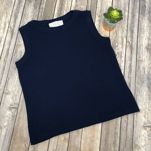 St. John Sport by Marie Gray Navy Wool Top Size S